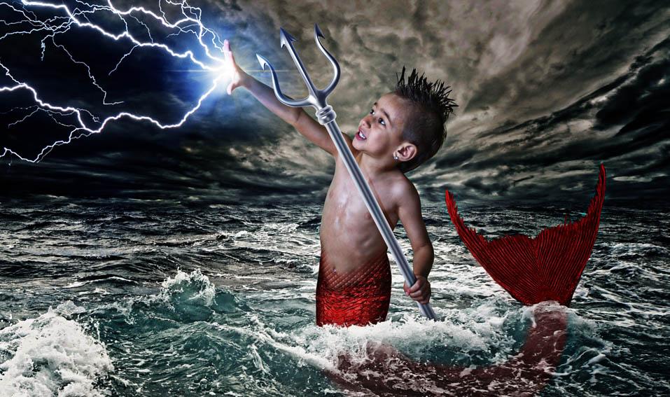 Neptune Kids' Fantasy Art